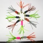 !/32 oz Crazy legs jigs with Lite wire hooks.